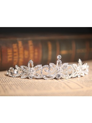 Gorgeous Clear Crystals Flower Wedding Headpieces