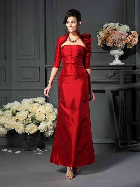 A-Line/Princess Strapless Long Taffeta Mother of the Bride Dress