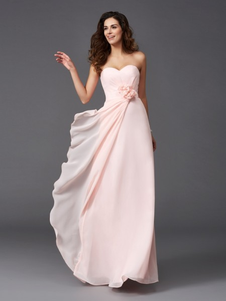 A-Line/Princess Sweetheart Chiffon Bridesmaid Dress