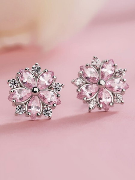 Graceful S925 Silver With Snowflake Earrings