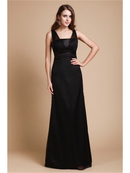 Sheath/Column Belt Chiffon Dress
