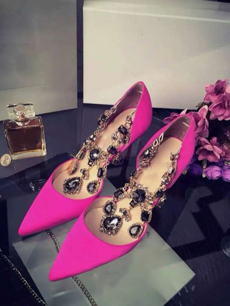 Satin Chain High Heels S3LSDN050417LF