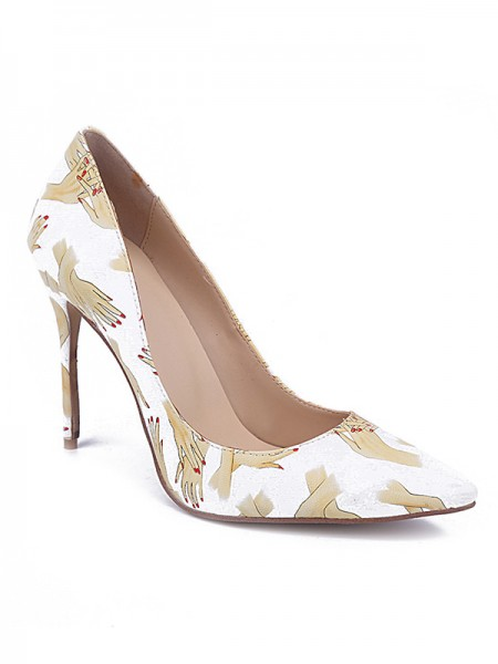 PU With Printing High Heels S5MA0412LF